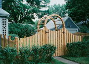 Scalloped Cedar Fence